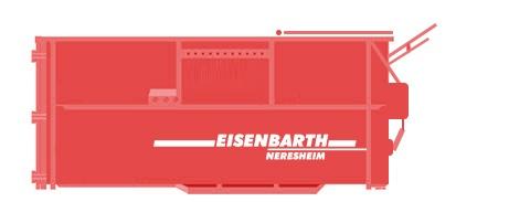 Entsorgungslogistik: Absetzpresscontainer 29 Kubik mit Hub / Kipp Vorrichtung