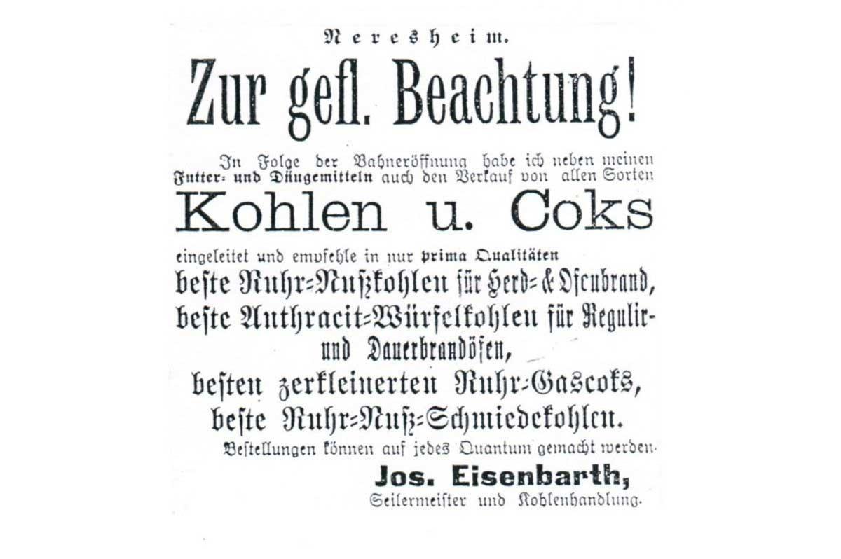 Unsere Historie: Eisenbarth Neresheim - So beginnt es